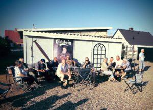 Dækspark med besøg hos Hanne og Erik d. 12. juli 2018.